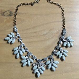 JCREW gray statement necklace like new